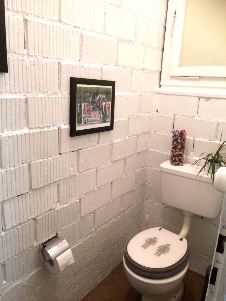Stall-WC nach der Sanierung.